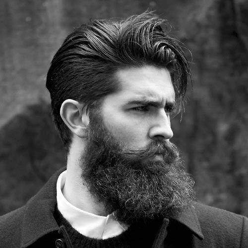 peinados hacia atrás de longitud media para hombres