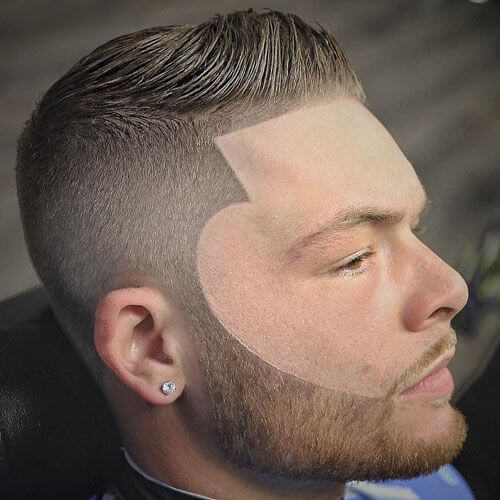 Desvanecimiento de caja con diseño de barba