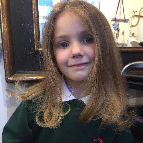 overgrown bangs capas de corte para niños