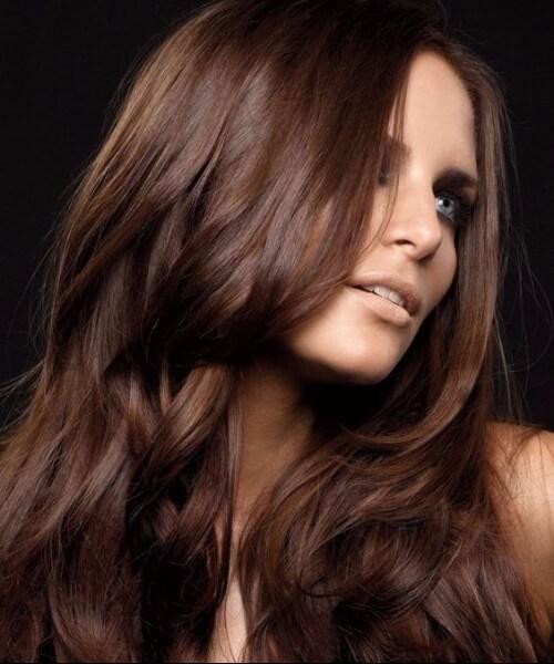clásico cabello castaño chocolate