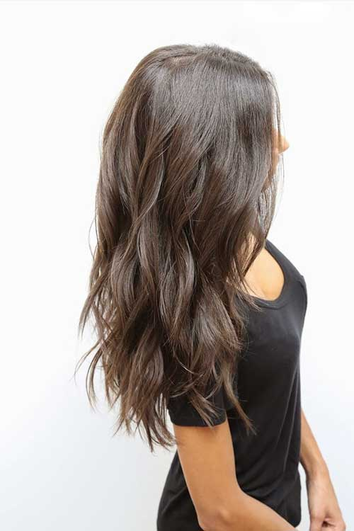 Capas de cortes fríos en cabello largo