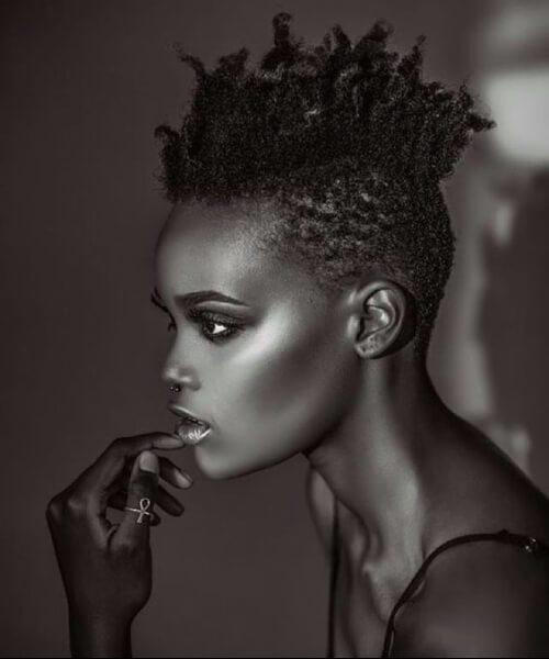 fauxhawk peinados de niña negro