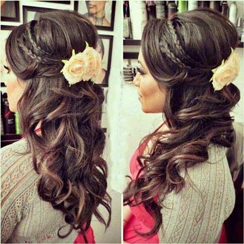 Peinados de boda medio arriba abajo