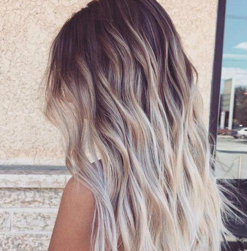 color cremoso del pelo balayage verano