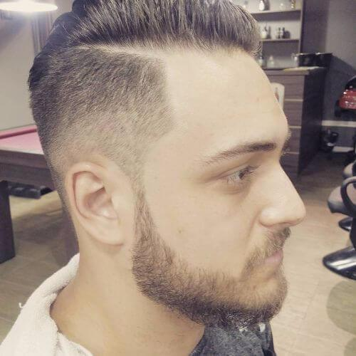 peinados finos retroceso para hombres con cabello fino