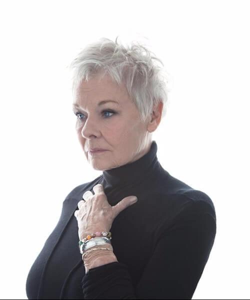 Peinados Judi Dench para mujeres mayores de 50 años