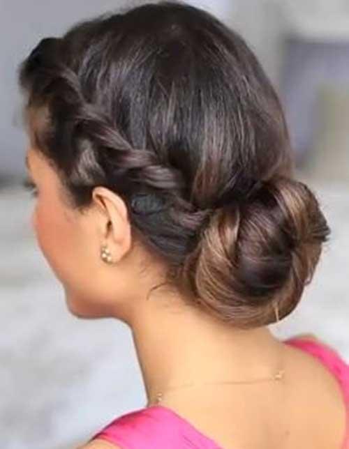 Estilos lindos de Updo para cabello largo oscuro