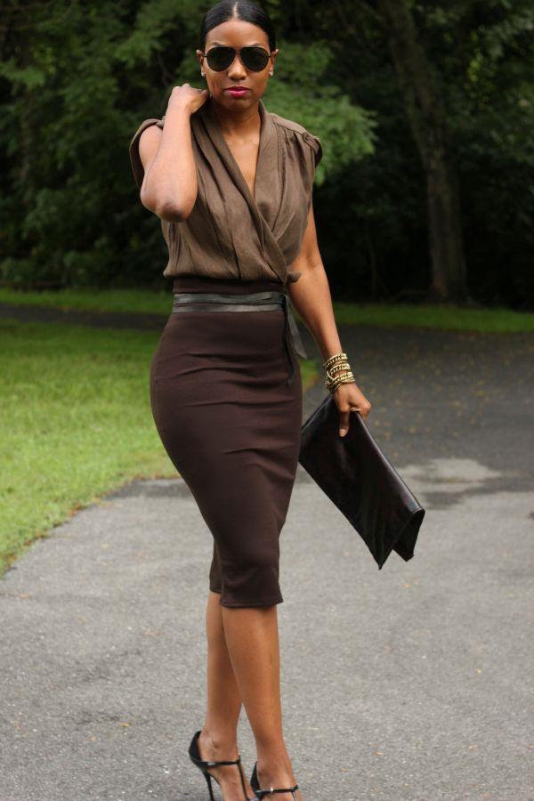 trajes de falda lápiz 9