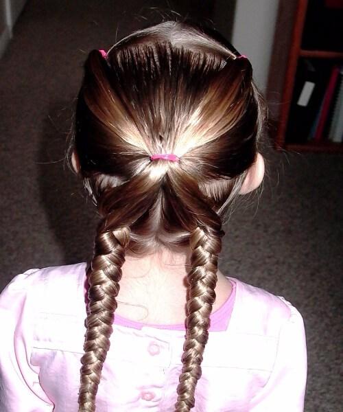 peinados de mariposa niña pequeña
