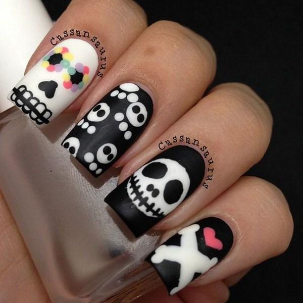 Ideas de arte de uñas de Halloween. Ideas de arte de uñas de Halloween.