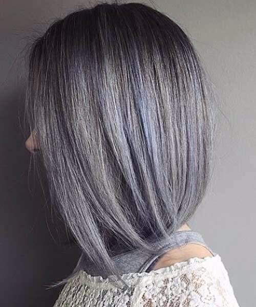peluca gris azulada plateada perfecta