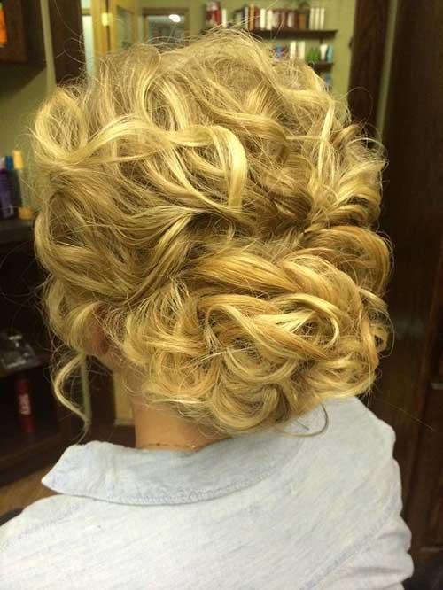 New Curly Updos para cabello largo