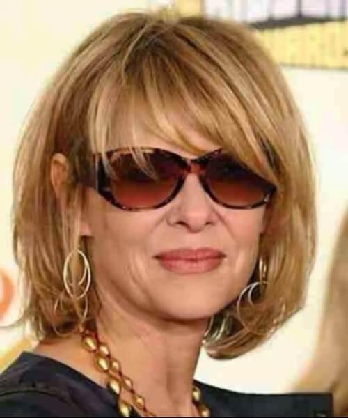 Peinados de Rene Russo para mujeres mayores de 60 años