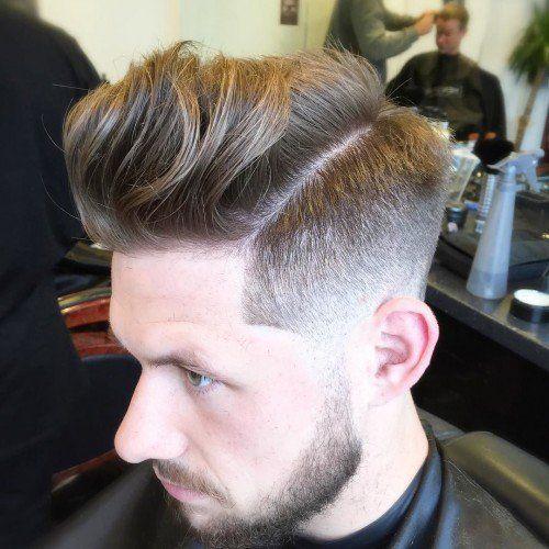 peinados de pomp bajo clave para los hombres