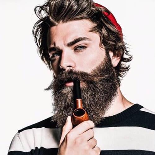 Cortes de pelo con barbas de estilo