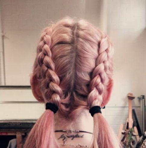 medias trenzas peinados para el pelo lacio