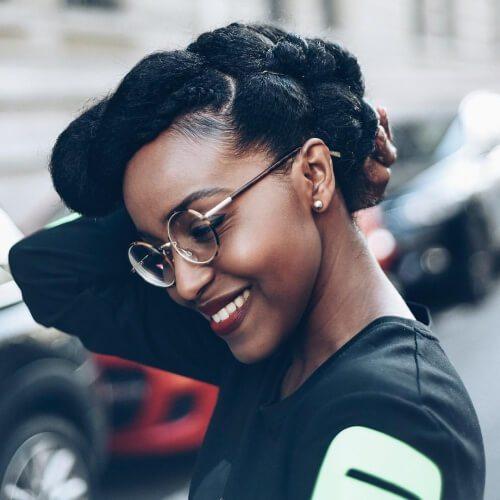 Peinados protectores para el cabello relajado