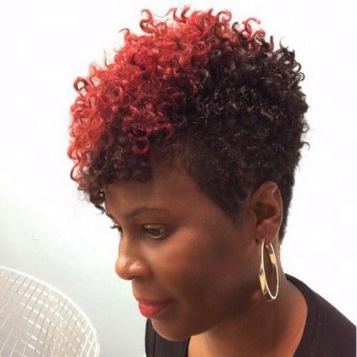 raya roja rizado corte pixie