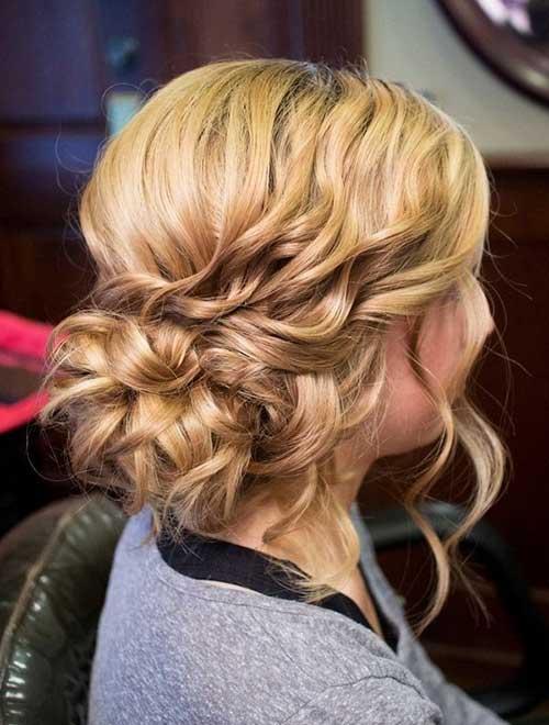 Curly Side Bun Hair 2018