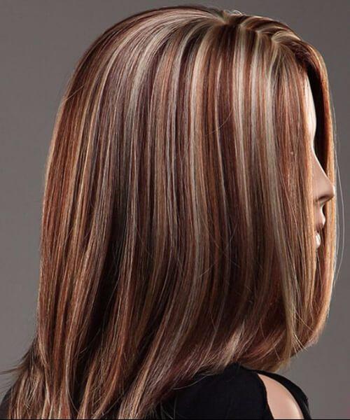 colores de cabello de otoño caída de óxido