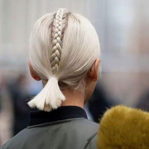 peinados rubios medias medias trenzas