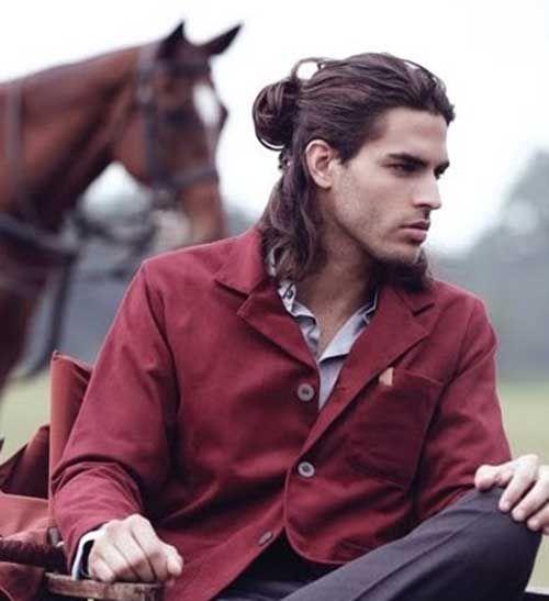 peinados largos cola de caballo para hombres