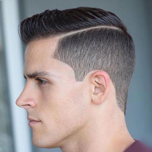 Corte de pelo de la parte dura con clase