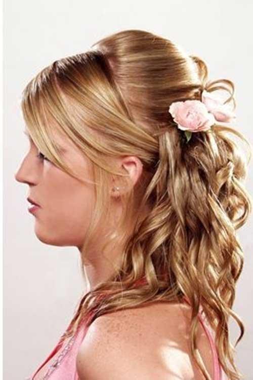 Peinados en serio lindos para el pelo medio rizado