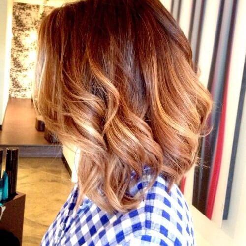 Blonde Ombre en el pelo rojo