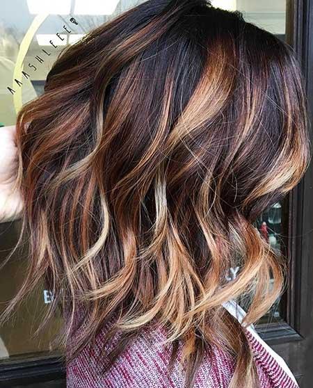 Marrón cabello rubio