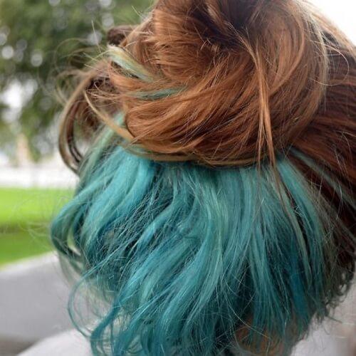 Auburn con Pale Turquoise Under Color