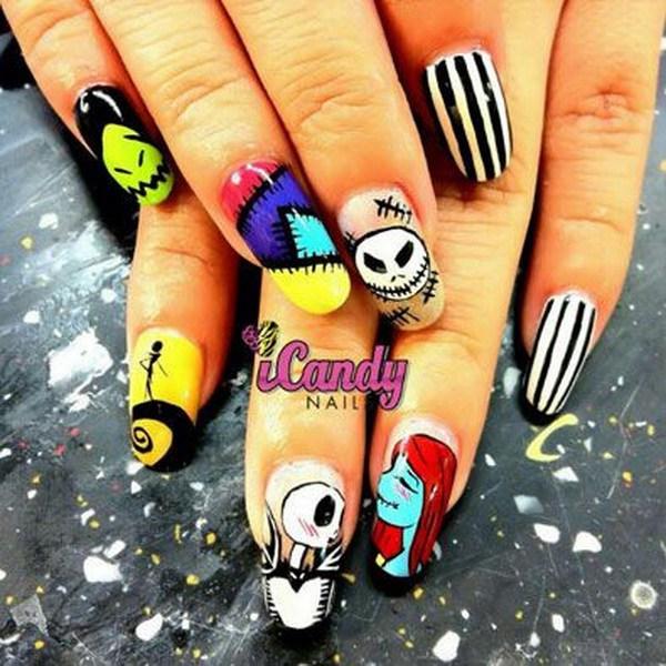 Hermosos diseños de uñas para Halloween. Ideas de arte de uñas de Halloween.
