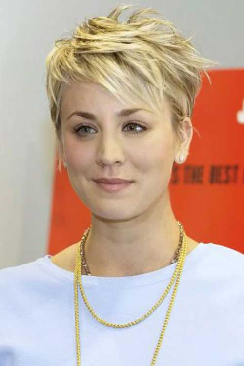 Kaley Cuoco Short Hair 2018
