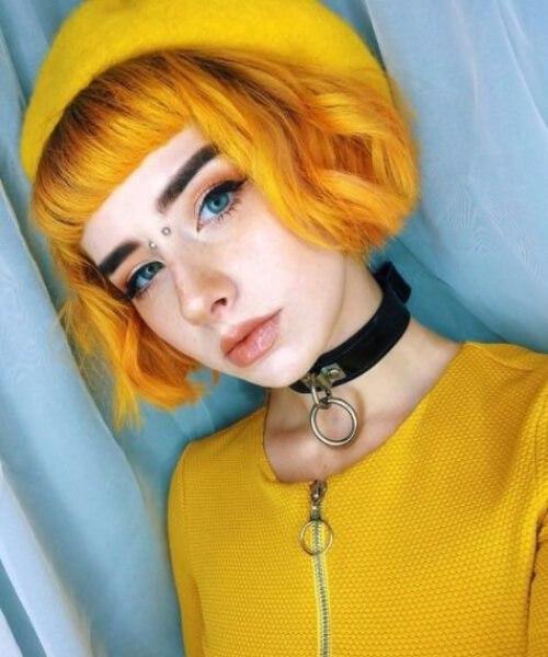 mostaza caída de cabello colores