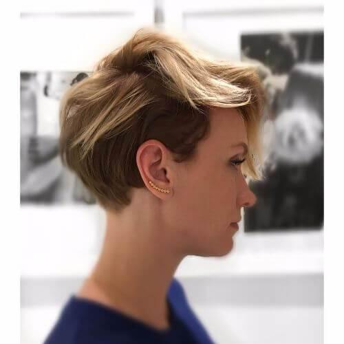 capas entrecortadas en corte de pelo corto