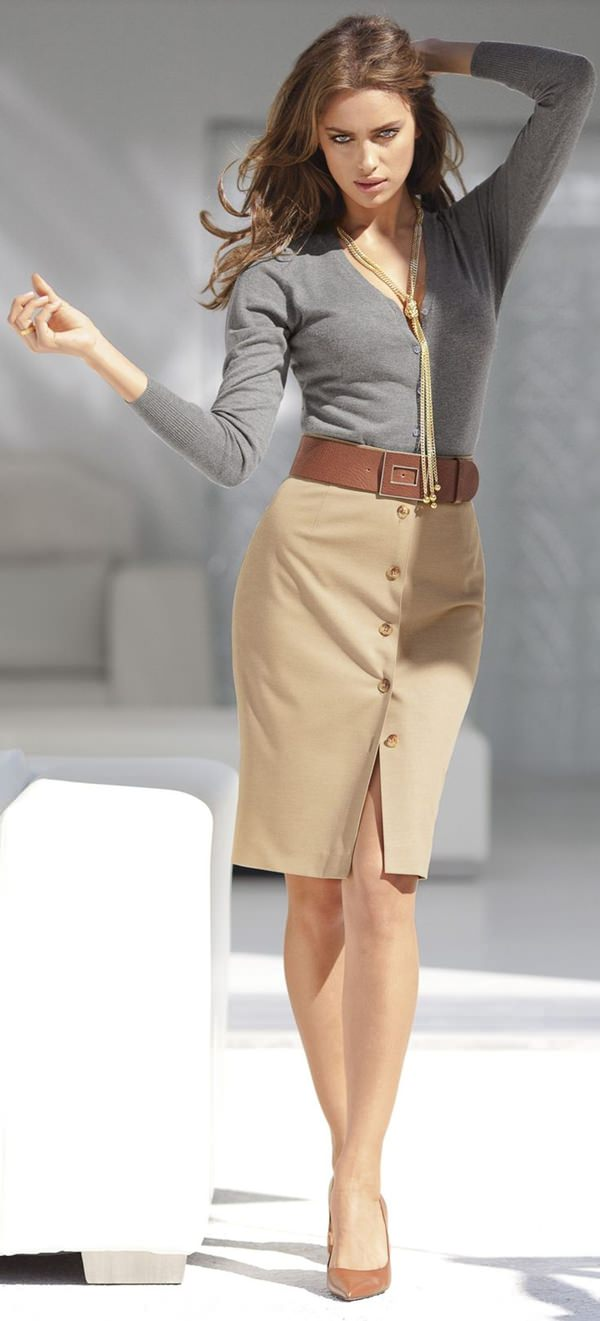 trajes de falda lápiz 41