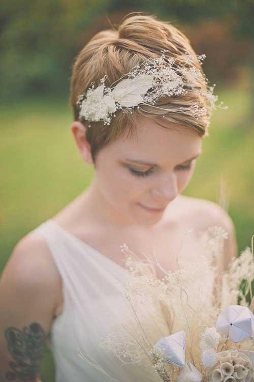 Pixie Short Hairstyles para bodas