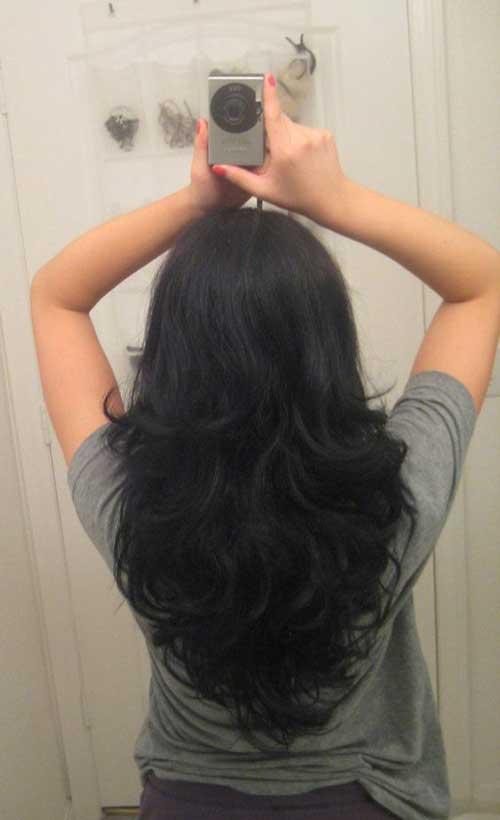 Peinados en forma de V