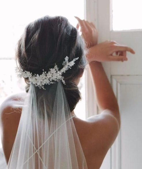 velo peinados de boda para el cabello largo