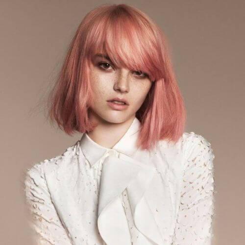 bob invertido rosa cobre