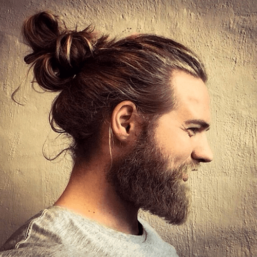 Loose Man Bun Peinado