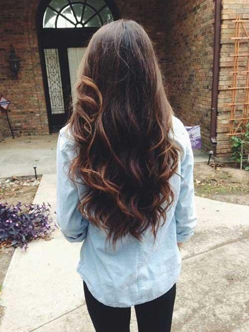 Peinados largos marrones oscuros-11