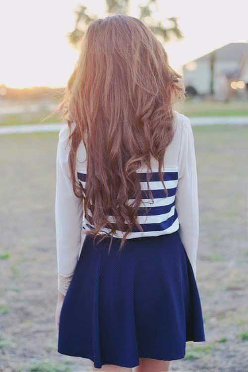 Lindo largo peinado