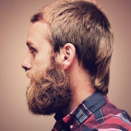 Salmonete discreto con barba completa