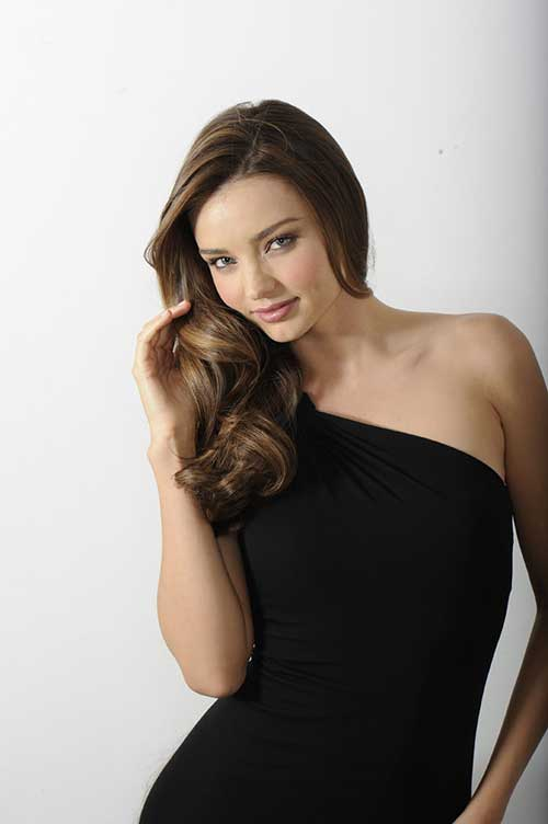 Miranda Kerr Brown Hairdo