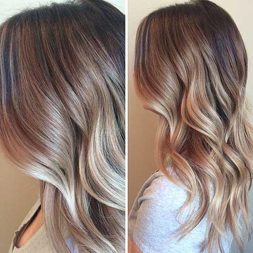 Balayage Destacados Brown Blonde Melt Waves Ombre