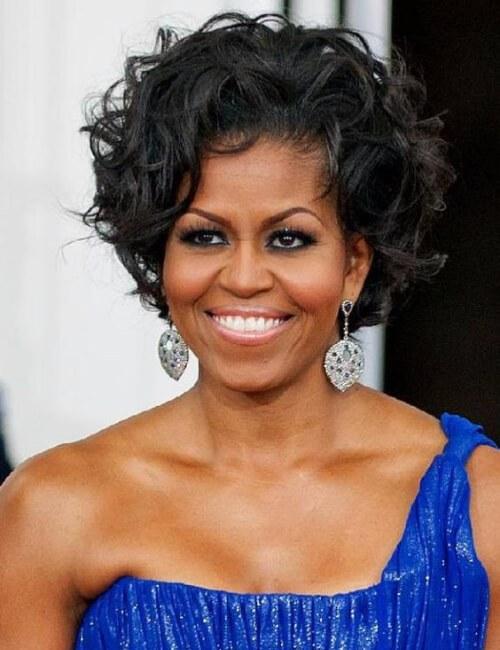 michelle obama peinados cortos para mujeres negras