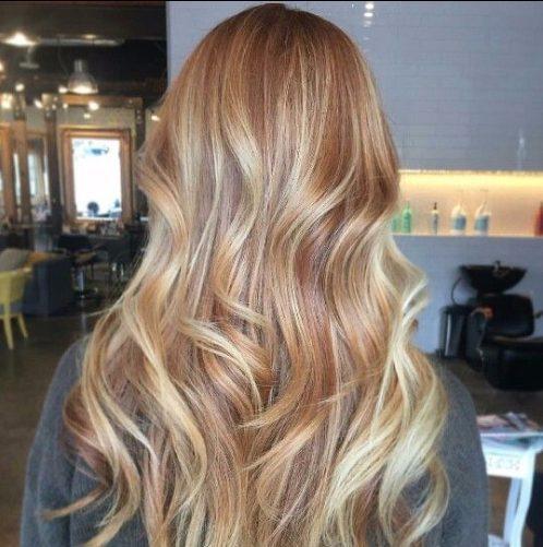 tonos de color de pelo balayage de cobre