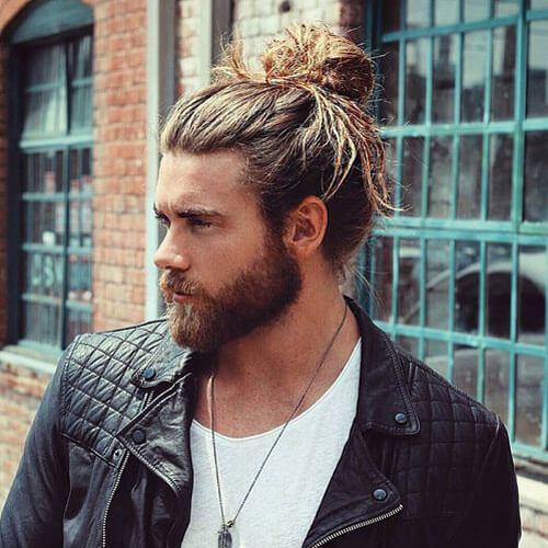 Peinados hombre bollo