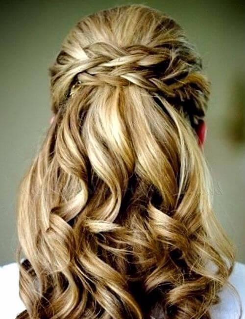 peinados de boda mitad hasta la mitad de los updos para cabello largo